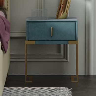 奢恩 床頭柜 現代輕奢 高密度板+絨布+五金腳 C-02