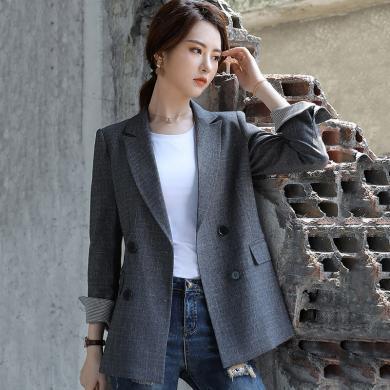 meyou 秋季新款西装外套女韩版宽松休闲长袖女士小西服