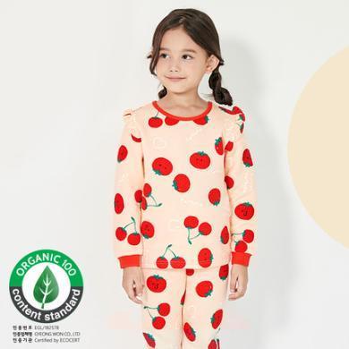 unifriend 韓國女童保暖內衣套裝三層保暖加厚女孩全棉兒童保暖衣