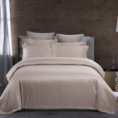【下單減50】VIPLIFE家紡 高端純棉提花四件套 純棉床單被套【輕奢系列】