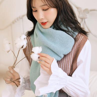 修允菲小菠蘿圍巾女冬季長款針織加厚保暖毛線圍脖學生韓版百搭日系可愛R99137