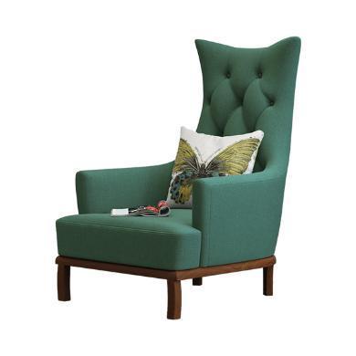 慕梵迪休闲椅 现代轻奢 实木框架+布艺+高回弹海绵 T0020
