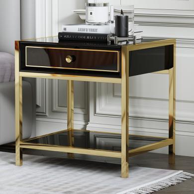 慕梵迪 床頭柜 現代輕奢 不銹鋼架+烤漆工藝 A-0003