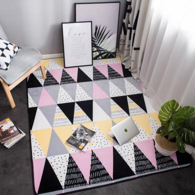 VIPLIFE法蘭絨地墊 客廳地毯北歐簡約風格免洗沙發/茶幾/墊臥室床邊毯