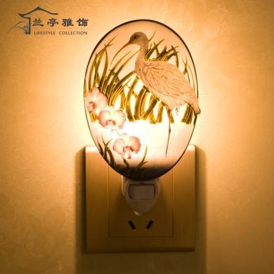 蘭亭雅飾白鶴小夜燈LT-15013