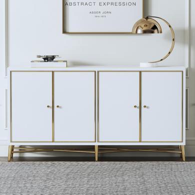 慕梵迪 餐边柜 现代轻奢 高密度板+高亮光漆+不锈钢五金 B0003