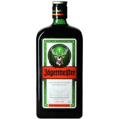野格(Jagermeister)洋酒 德国原装进口 野格圣鹿利口酒力娇酒 配制酒 700ml 单瓶装
