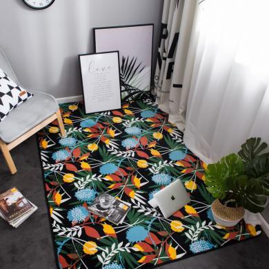 VIPLIFE法兰绒地垫 客厅地毯北欧简约风格免洗沙发/茶几/垫卧室床边毯