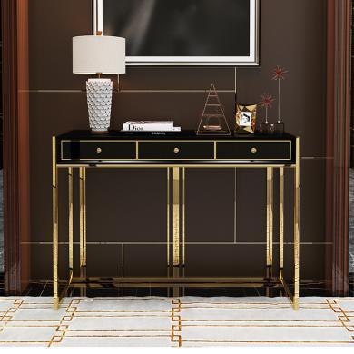 慕梵迪 门厅柜/玄关柜 现代轻奢 高密度板+实木抽+不锈钢电镀五金 A-0007