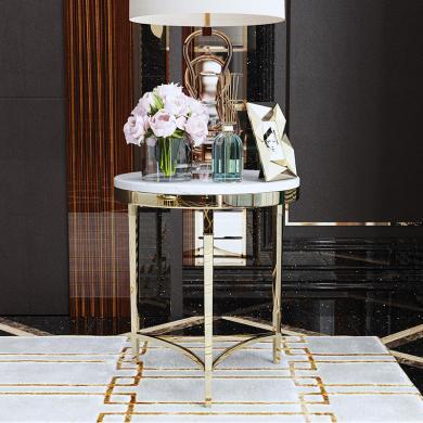 慕梵迪 茶幾 現代輕奢 大理石+不銹鋼電鍍五金 B0009
