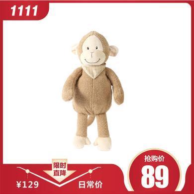 泊斯尔卡通小猴子热水袋小号注水暖手袋双插手卡通玩偶暖手宝可爱