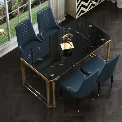 慕梵迪 餐桌 現代輕奢 人工大理石+不銹鋼 ZD-012