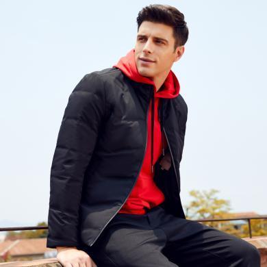 才子男裝2019冬季新款男士羽絨服男加厚立領直充休閑保暖羽絨外套3187E1722