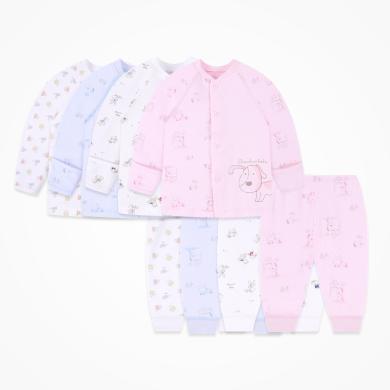 丑丑嬰幼 純棉前開套裝四季男女寶寶長袖內衣、家居服套裝 CKD750X