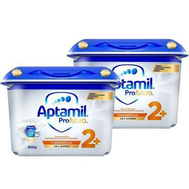 【2罐】德國Aptamil愛他美白金版嬰幼兒奶粉 2+段(2歲以上) 800g/罐