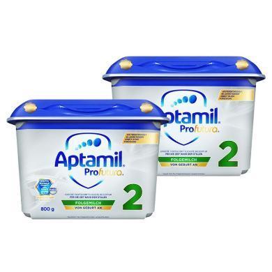 【2罐裝】德國Aptamil愛他美白金版嬰幼兒奶粉 2段(6-12個月)800g