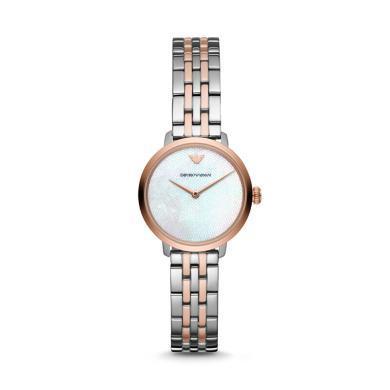 【支持購物卡】阿瑪尼(Armani)鋼帶經典時尚休閑石英女士腕表AR11157