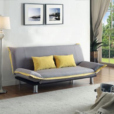 雅客集三擋可調兩用棉布沙發客廳書房辦公室達蓮娜休閑沙發床FB-15067