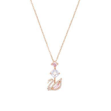 施華洛世奇19年新款粉色水晶天鵝DAZZLING 項鏈女5473024
