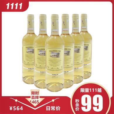 1111特惠【6支裝】品悅 法國原瓶進口 金棕櫚甜白葡萄酒 750mL 包郵