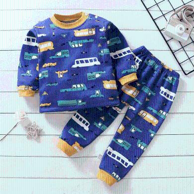 易卡通寶寶保暖衣套裝加絨加厚童裝加絨衛衣新款兒童保暖衛衣冬季寶寶衣服套頭73cm-130cm童裝 GNN40-5