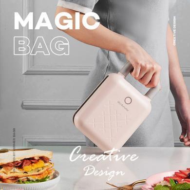 九阳魔法包三明治早餐机轻食机华夫饼机家用多功能加热吐司压烤机S-T1