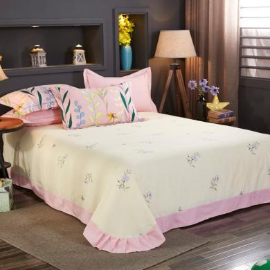 VIPLIFE全棉床單 純棉加厚磨毛床單單件