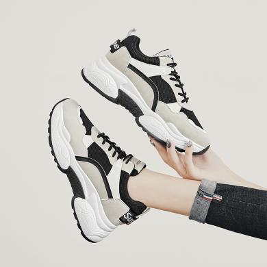 新款秋季運動鞋厚底休閑女鞋戶外休閑跑鞋女增高女鞋YC-F808