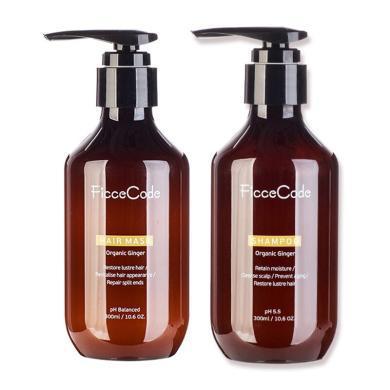 【支持购物卡】组合装 FICCECODE/菲诗寇 生姜洗发水+护发素