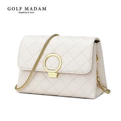 高尔夫GOLF小包包女新款手提韩版潮单肩包女时尚链条百搭斜挎小方包 B941898