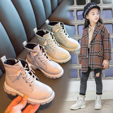 女童馬丁靴2019年新款兒童短靴英倫風時尚洋氣英倫風兒童靴子單靴 XBB-A08