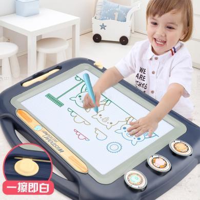 超大號兒童畫畫板磁性寫字板 彩色小孩幼兒 1-3歲玩具寶寶涂鴉板