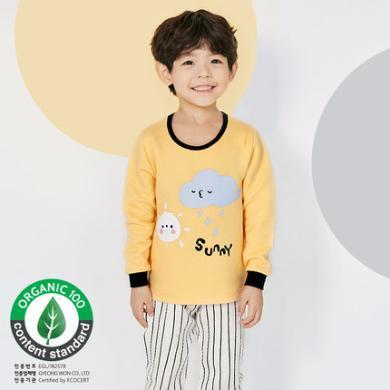 unifriend秋冬四歲寶寶保暖衣套裝純棉兒童三層保暖內衣套裝男童