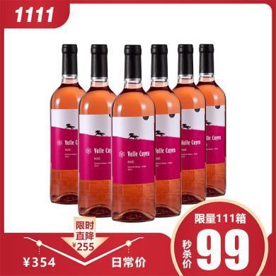 1111秒殺 智利原瓶進口 月亮谷 桃紅 葡萄酒 750mL *6 包郵  9