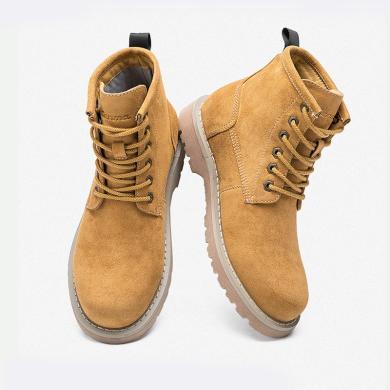 森馬馬丁靴子男短靴新款秋冬季加絨保暖英倫大黃靴工裝靴高幫鞋潮618414808