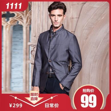 狄亞諾 春秋款商務休閑男士修身西裝 便裝單西 外套西服   215320