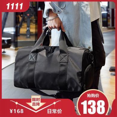 香炫兒(XIASUAR)經典款運動休閑健身包游泳包干濕分離旅行包獨立鞋倉單肩包