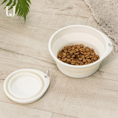 佐敦朱迪宠物喂食碗 可折叠猫狗通用便携喝水户外泰迪金毛喂食碗狗盆