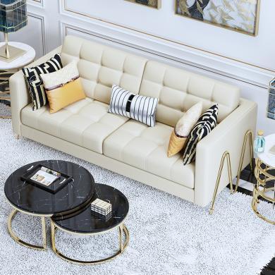 慕梵迪 沙發 現代輕奢 實木框架+高回彈海綿+皮/布+五金腳 S0012 沙發