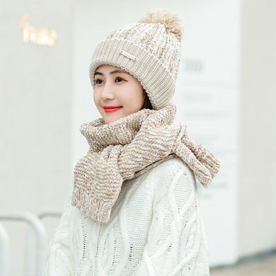 秋冬帽子防寒時尚毛線帽針織加絨甜美可愛秋冬季護耳保暖帽女FA048