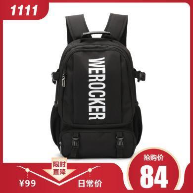 香炫兒(XIASUAR)簡約新款雙肩包男潮牌休閑簡約旅行大容量高中學生書包男女通用背包大容量電腦包15.6英寸