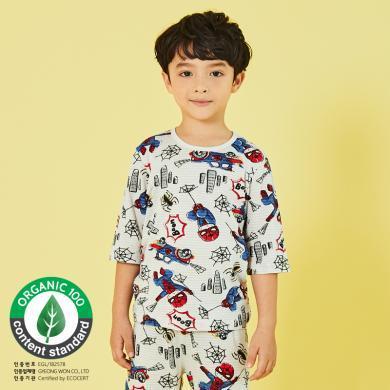 unifriend韓國兒童家居服套裝男童純棉薄款空調服男孩睡衣a類