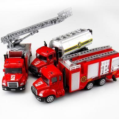 兒童早教益智玩具車仿真小汽車合金車挖掘機男女孩車模型玩具BG合金CF16