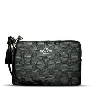 [支持购物卡]COACH/蔻驰 女款女包钱夹钱包 竖款手腕包  64283