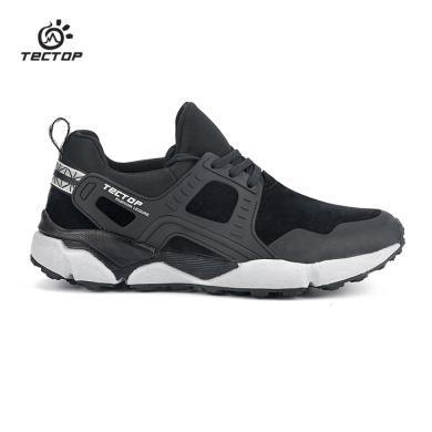 TECTOP探拓戶外徒步鞋男女輕便耐磨橡膠底休閑爬山運動透氣跑步鞋