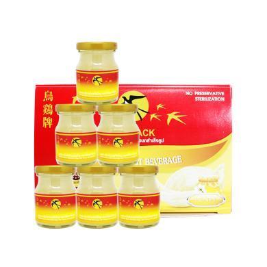 【支持购物卡】泰国 乌鸡牌 Bonback  美容养颜 燕窝蜂蜜味 即食燕窝 75ml*6瓶/1盒装