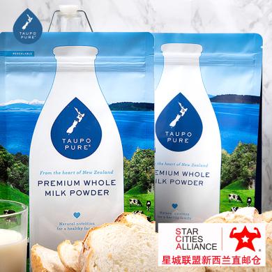 【支持购物卡】6包*新西兰特贝优成人全脂高钙奶粉1公斤 /包 新西兰空运直邮