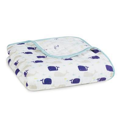 美國aden+anais初生嬰兒紗布蓋被蓋毯小寶寶抱被子純棉空調被春秋