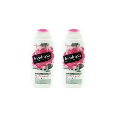 【支持購物卡】【2瓶裝】英國Femfresh 私密溫和無皂女性洗護液 250ml 蔓越莓香味