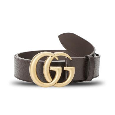 [支持購物卡]GUCCI/古馳 互扣式雙G帶扣皮帶 4.0D 406831